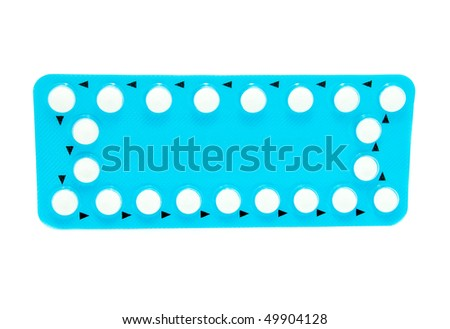 birth control pills - stock photo