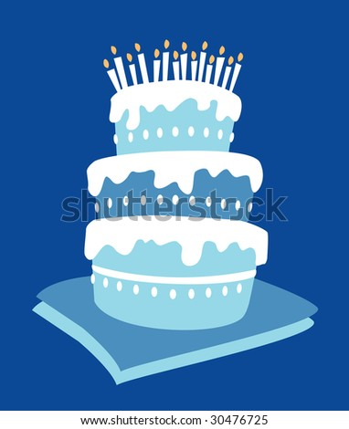 Birthday boy cake - stock photo