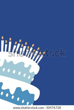 Birthday boy cake - stock photo