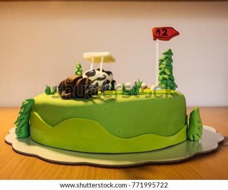 Birthday Cake Golf Theme Stock Photo Royalty Free 771995722