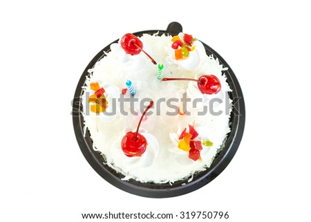 Birthday Cake isolated on white background.