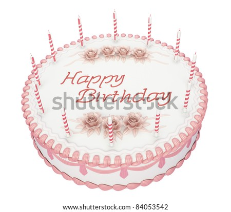 Round Birthday Cake Stock Images RoyaltyFree Images  Vectors - Words on cake for birthday