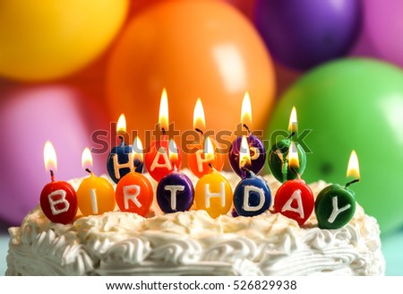 Birthday Cake Candles On Balloons Background Stock Photo 100 Legal