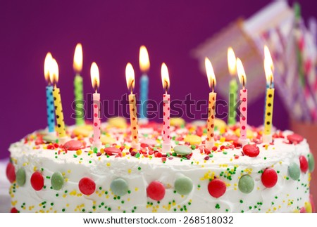 birthday cake with candles stock images royalty free images on birthday cake candles pictures