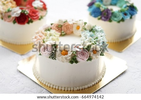 Birthday Cake Images And Flowers ~ Birthday cake flowers on lace white stock photo royalty free