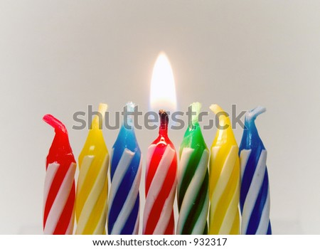 Birthday Candles - stock photo