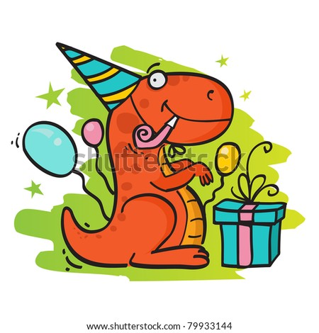 Birthday card - stock photo