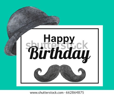 Birthday card man happy birthday stock illustration 662864875 birthday card for man happy birthday altavistaventures Gallery