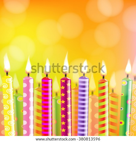 Birthday Card With Candle