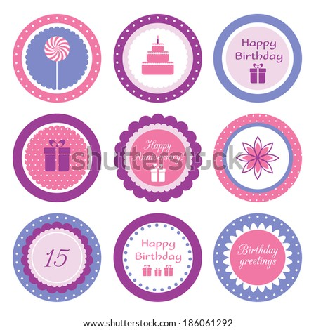 Artulinas Cupcake toppers set on Shutterstock