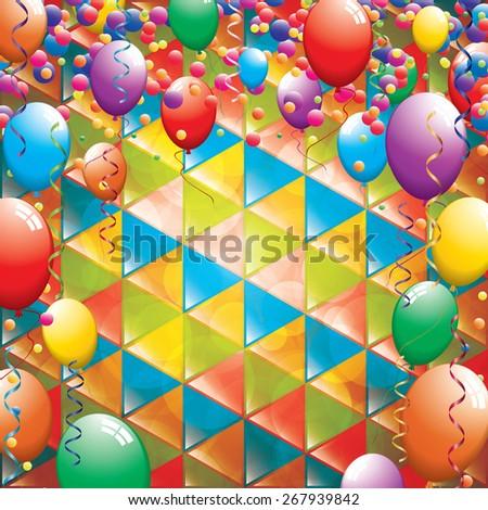 Birthday greeting card - stock photo