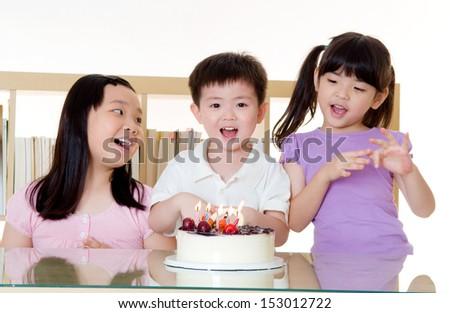 birthday party - stock photo