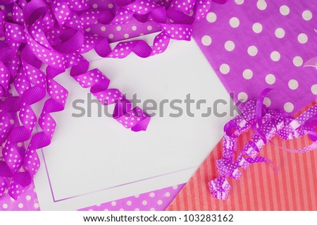 Birthday party card design wallpaper background - stock photo