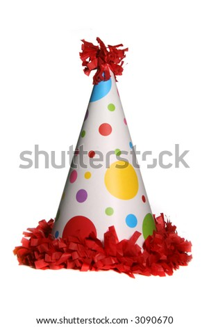 Birthday Party Celebration Hat - stock photo