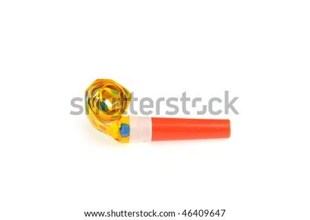 birthday whistle - stock photo