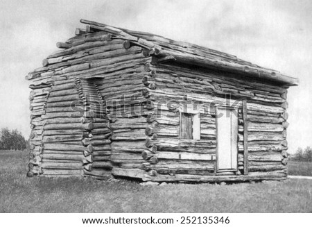 Birthplace of Abraham Lincoln in Hardin County, Kentucky - stock photo