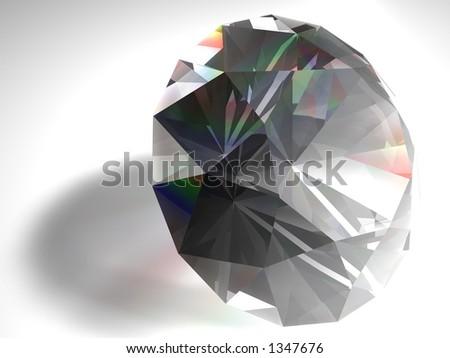 Birthstone for April- diamond - stock photo