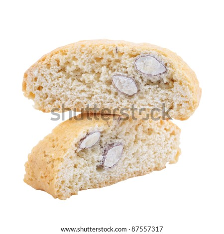 Biscotti Biscuits Cutout - stock photo