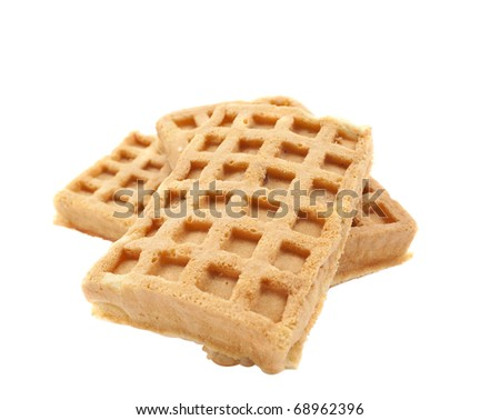 Biscuit on a white background