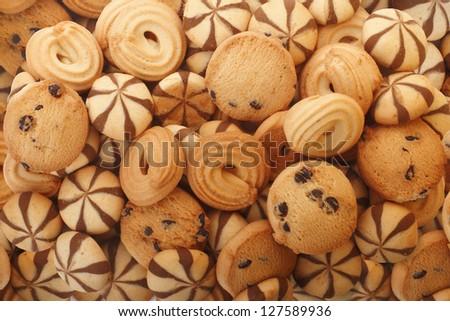 Biscuits/Cookies Texture - stock photo