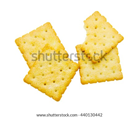 Biscuits isolated on a white background.