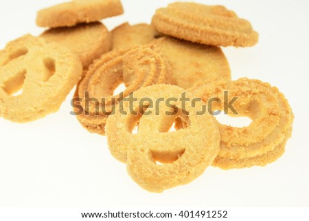 biscuits isolated on white