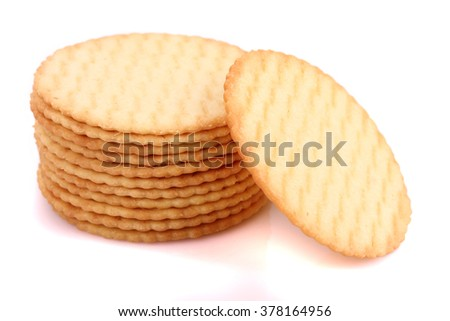 Biscuits isolated on white background.