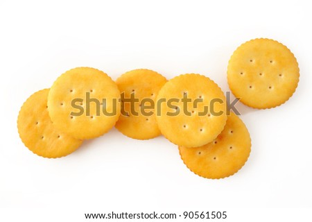 biscuits on white