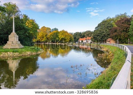 Bishop Burton near Beverley in the East Riding of Yorkshire - stock photo