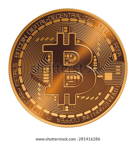Bitcoin. 3D Model. - stock photo