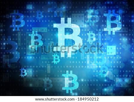 bitcoin mining - stock photo