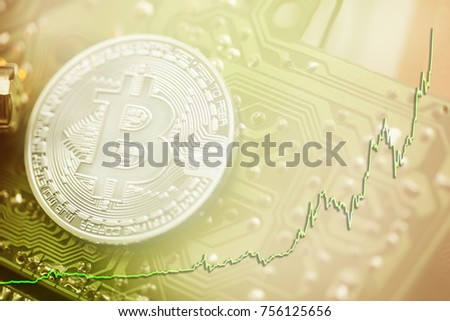 bitcoin Positive trend of cryptocurrency stock market. Buy (long) position