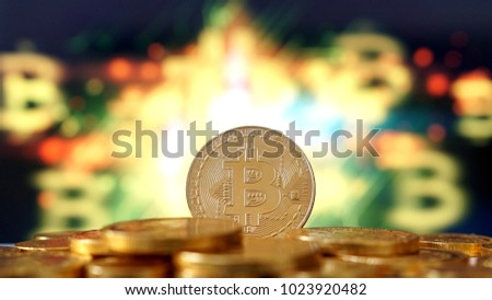 Bitcoin symbol. Crypto currency