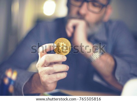 Two Bitcoins Bit Coin Btc New Stock Photo 165627185