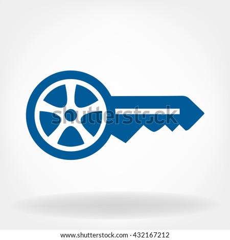 Bitmap illustration. Car keys. - stock photo