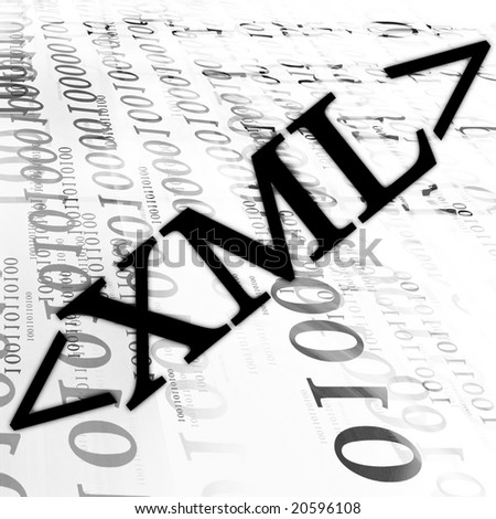 bits and bytes on a white background - stock photo