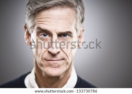 Bitterly Disappointed Senior Man - stock photo