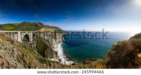 Bixby Bridge - stock photo