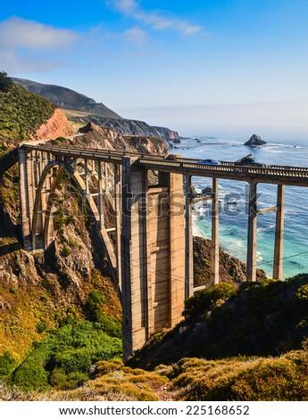Bixby Bridge, California - stock photo