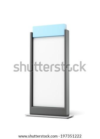 Black Advertising stand - stock photo