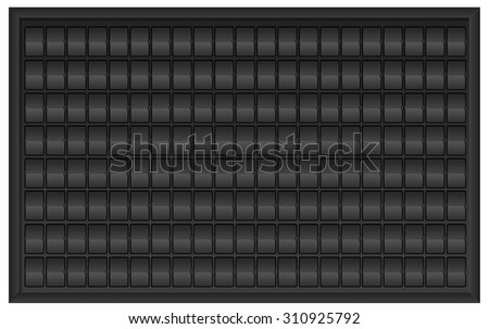 Black airport billboard panel flipping time table