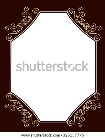 Black and brown ornamental border / frame specially for wedding / party invitation cards