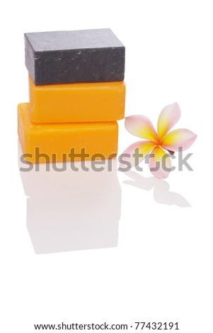black and orange soaps with leelawadee - stock photo