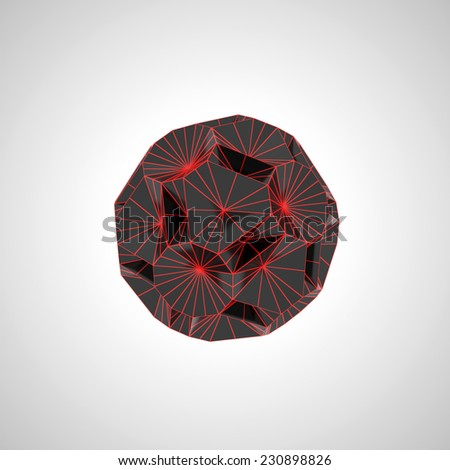 black and red geometric shape