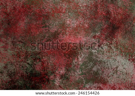 Black and red iron grunge texture. Grey texture on the background. - stock photo