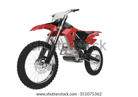Black and Red Motocross Bike