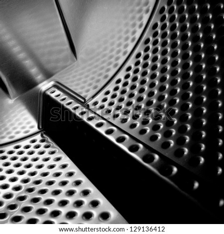 Black and white abstract. - stock photo
