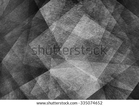 black and white abstract background, layers of diamond squares and triangle shapes in random pattern, fine detailed texture - stock photo