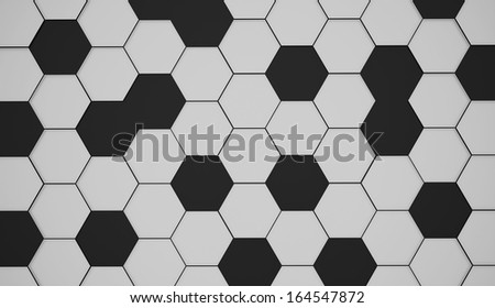 Black and white abstract hexagonal background - stock photo