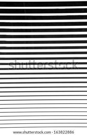 Black and white blinds - stock photo